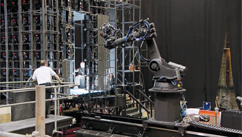 Robotic arm used while shooting Gravity, a science fiction thriller