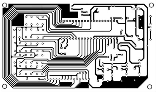 PCB layout of microwave oven