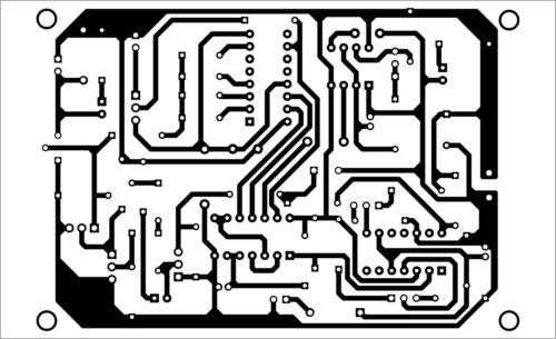PCB layout of no-load overload protector for motorised circuit