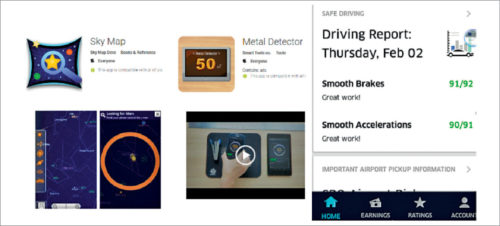 Examples of popular apps that use inertial measurement unit sensors