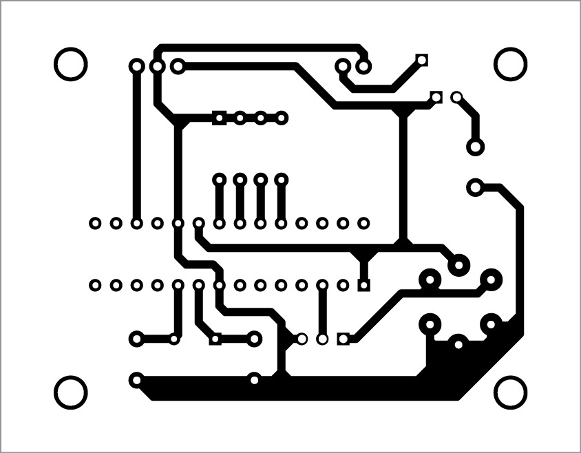 PCB layout of wireless gas detection circuit