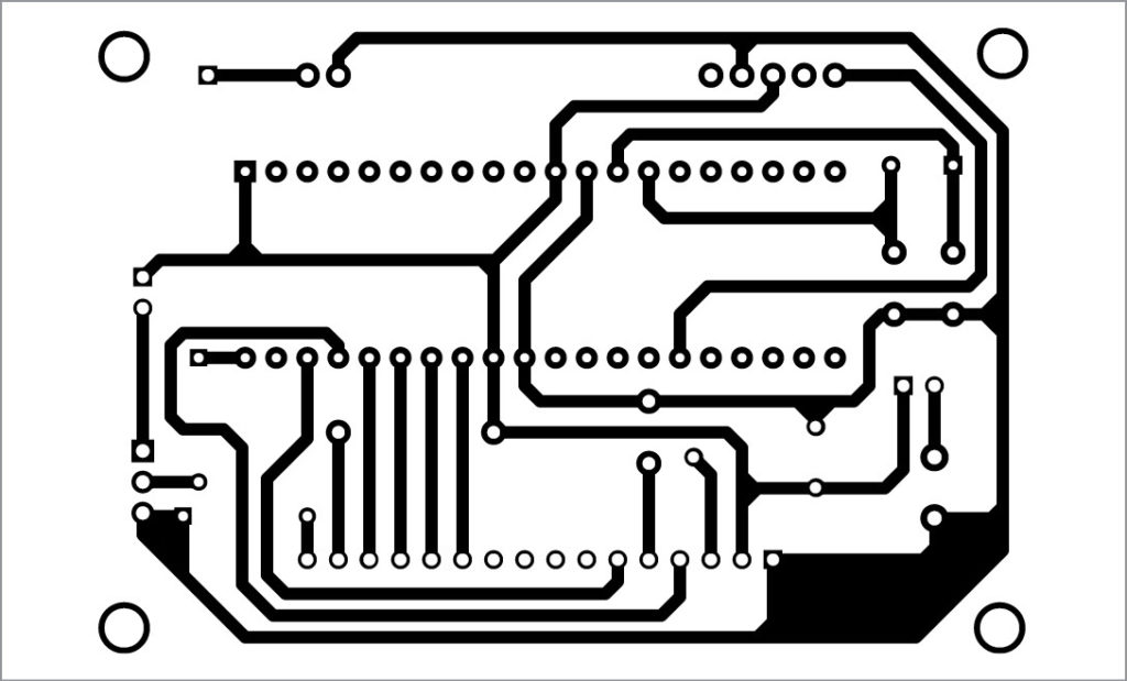 PCB layout of monitoring circuit