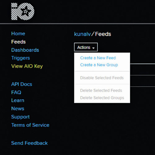 Create a new feed on Adafruit 10