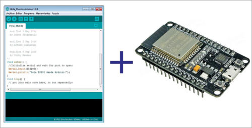 Arduino IDE with ESP32 module support