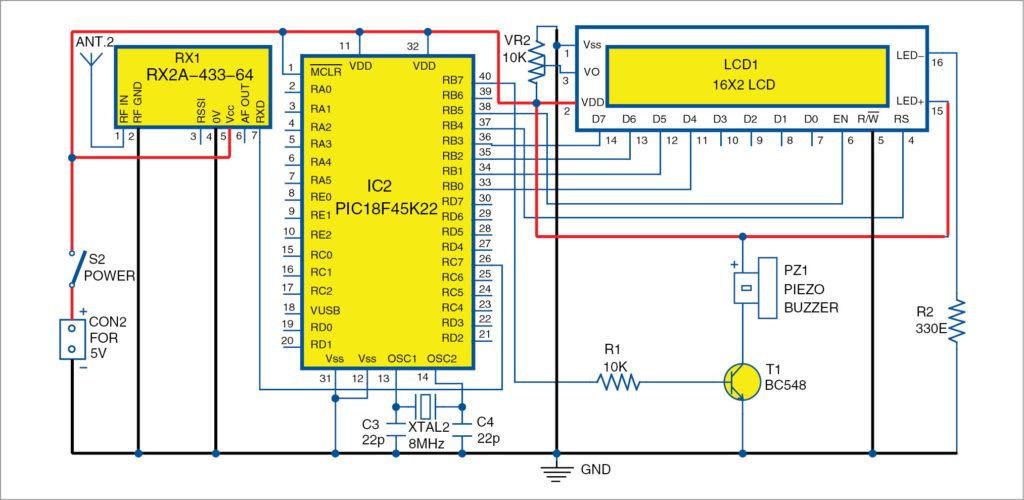 Circuit diagram of monitoring circuit