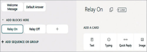Create Relay On and Relay Off blocks
