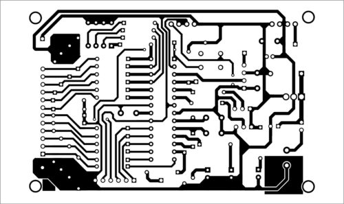 PCB layout of 12-bit signal transmitter and receiver