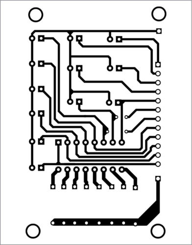 PCB layout of I/O board
