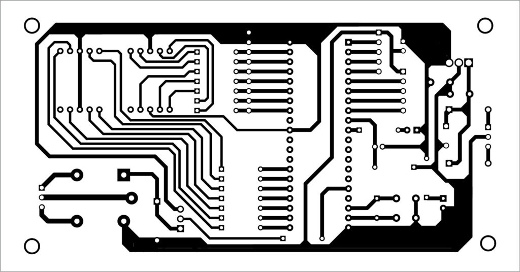 PCB layout of industrial timer