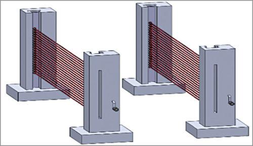 Representative setup of laser screens