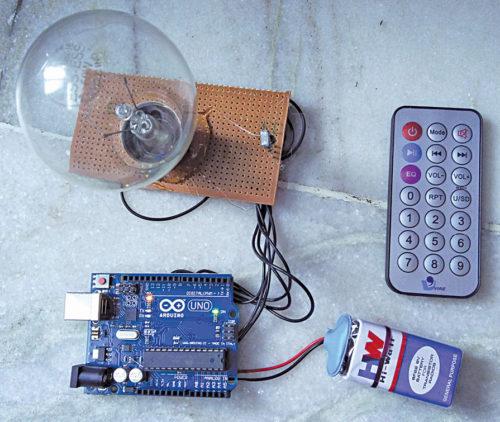 Author's prototype IR Remote-Controlled RGB Bulb