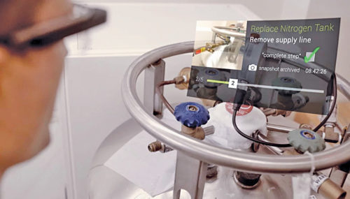 AR display for maintenance in Industry 4.0