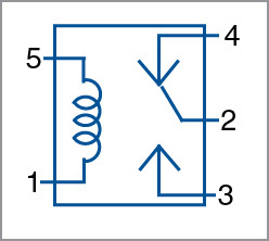 Pin diagram of the relay