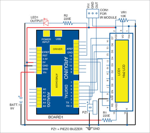 Circuit diagram of vehicle detection system