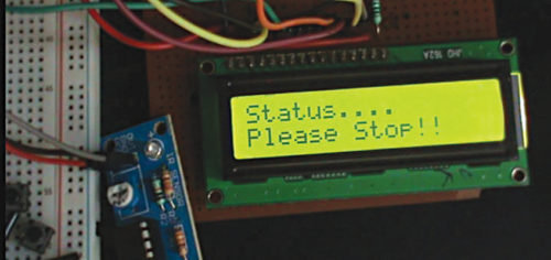 Warning message on LCD