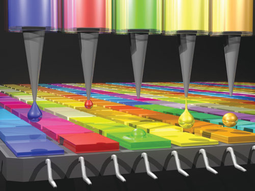 Quantum dot filters absorb different wavelengths of light depending on their size and composition (Credit: O'Reilly Science Art)