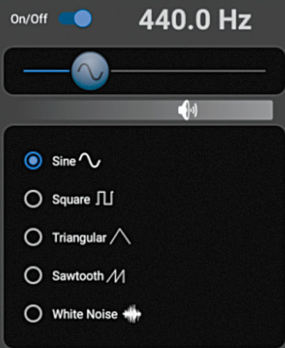 440Hz sinewave signal
