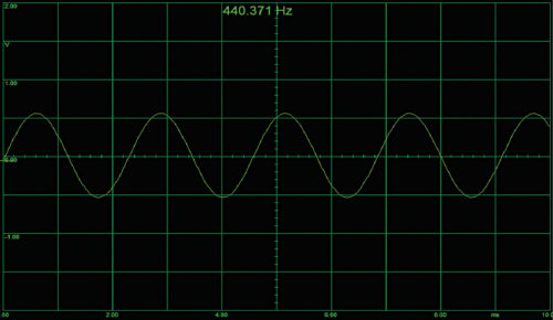Frequency captured on Zelscope software