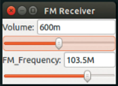 FM receiver designed in GNU Radio interface