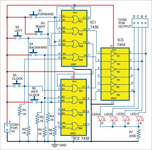 Circuit diagram of joystick for robot