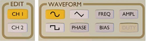 Select channel and waveform