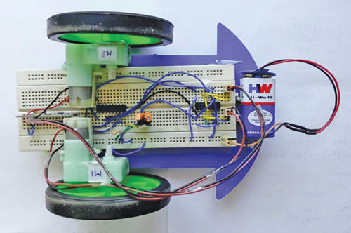 Authors' prototype of robotic car (receiver side)