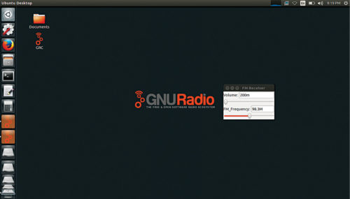 GNU Radio live disk desktop and icon
