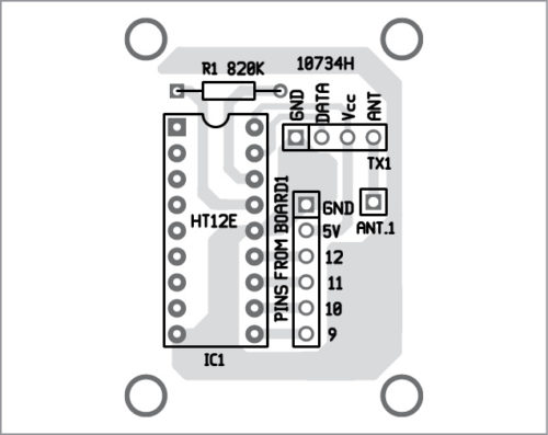 Components layout for PCB layout in Fig. 8