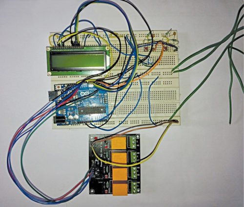 Authors' prototype of electrical equipment control system
