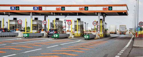 A typical electronic toll collection system