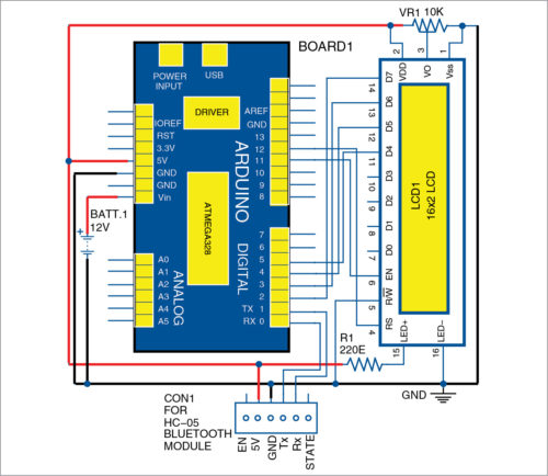 Circuit diagram of wireless caller ID for bikers