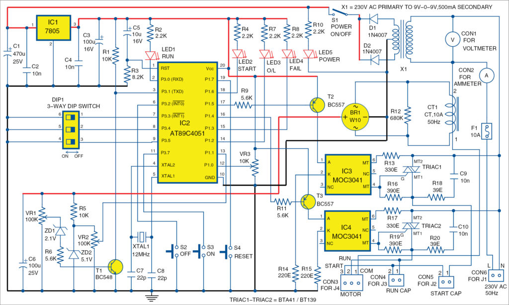 Circuit diagram of submersible motor control panel | Pump Starter