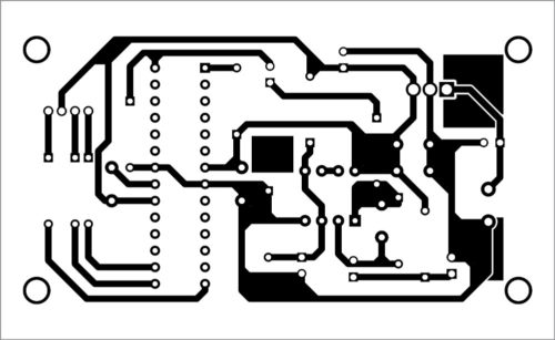 PCB layout of music-operated RGB LED