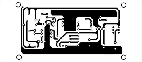 Actual-size PCB layout of ESP8266-based home automation system