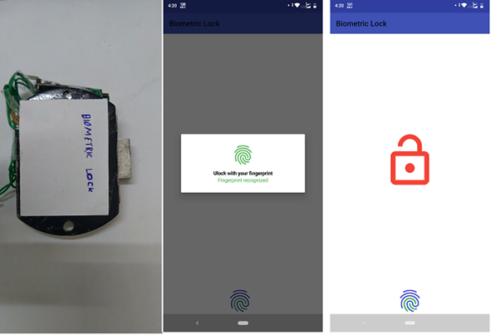 Wireless Biometric Lock setup and app