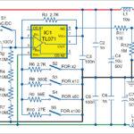 Circuit diagram of active probe