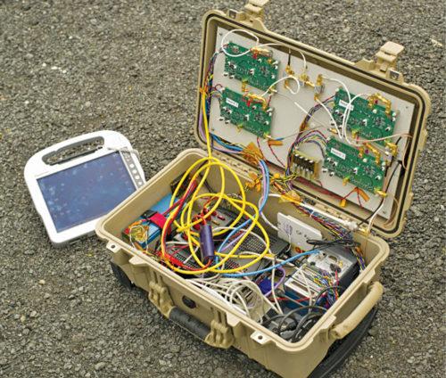 The electronics inside FINDER