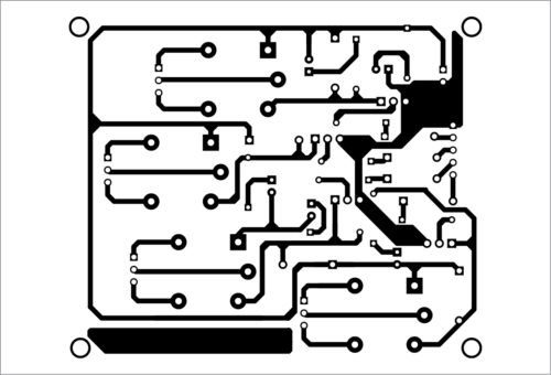 Actual size PCB layout of equipment controller