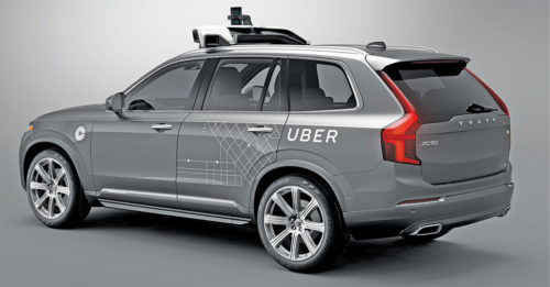 Uber's self-driving car, Volvo XC90 (Credit: http://time.com)