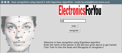 Fig. 1: Face recognition using OpenCV with welcome GUI | OpenCV Face Recognition System
