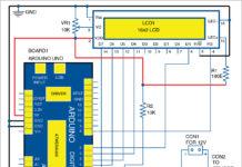 Circuit diagram of digital tachometer