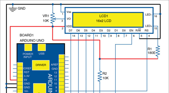 Circuit diagram of digital tachometer
