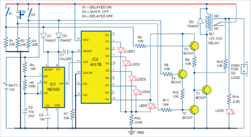 Circuit diagram for accidental switching protection