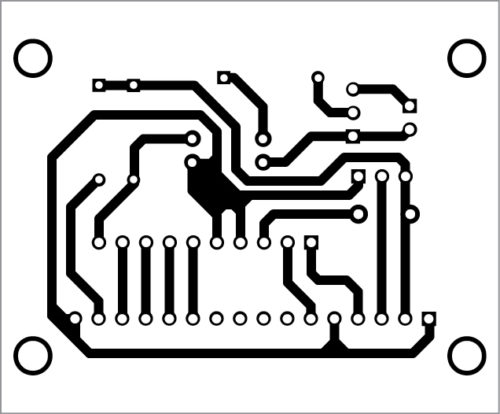 PCB layout of Arduino-based tachometer