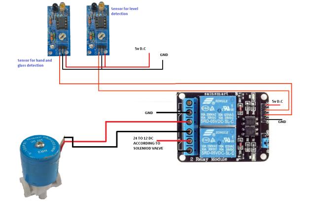 Circuit Diagram for Smart Water Tap