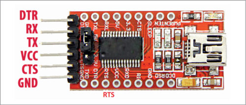 FT232 USB-to-UART module