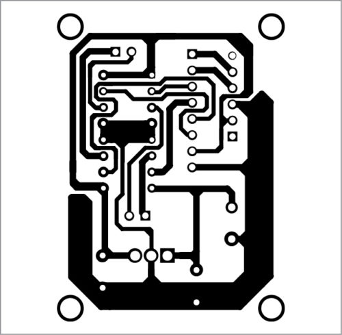 PCB layout of receiver circuit for Voice-Controlled Robotic Car