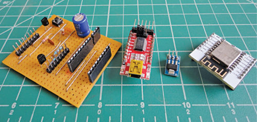 Modules and general-purpose PCB used by author