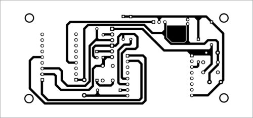 PCB layout of the automatic programmer ESP8266-12E/F Module Programmer