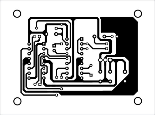 PCB layout of robot controller